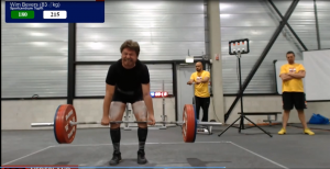 record deadlift 215